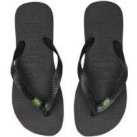 Havaianas Havaianas Brasil Flip Flops - Black - EU 39-40/UK 6-7 - Black