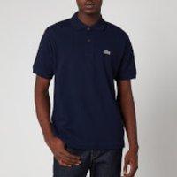 Lacoste Mens Basic Pique Short Sleeve Polo Shirt - Navy - 5/L