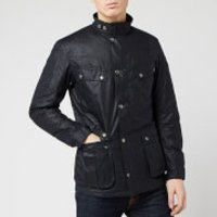 Barbour International Mens Duke Wax Jacket - Navy - XXL