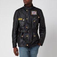 Barbour International Mens Union Jack International Jacket - Black - XXL - Black
