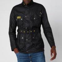 Barbour International Men's Slim International Wax Jacket - Black - L - Black