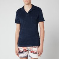 Orlebar Brown Men's Terry Towelling Polo Shirt - Navy - M - Navy