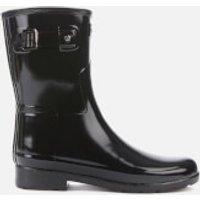 Hunter Women's Original Refined Short Gloss Wellies - Black - UK 7