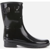 Hunter Women's Original Refined Short Gloss Wellies - Black - UK 4
