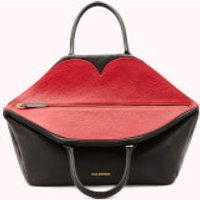 shop for Lulu Guinness Women's Large Peekaboo Lip Valentina Tote Bag - Black at Shopo
