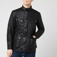Barbour International Men's Duke Wax Jacket - Black - S