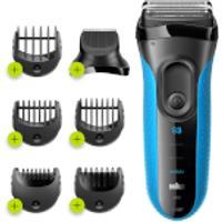 Braun Series 3 - Blue - Precision Trimmer & Comb Attachments