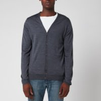 John Smedley Men's Petworth 30 Gauge Merino Cardigan - Charcoal - M - Grey