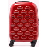 shop for Lulu Guinness Women's Small Lips Hardside Spinner Case - Classic Red at Shopo