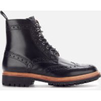 Grenson Men's Fred Leather Commando Sole Lace Up Boots - Black - UK 7 - Black