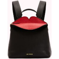 shop for Lulu Guinness Women's Peekaboo Lip Valentina Backpack - Black/Red at Shopo