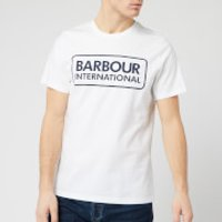 Barbour International Men's Essential Large Logo T-Shirt - White - S
