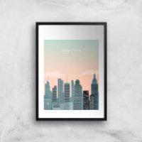 New York Art Print - A2 - Wood Frame