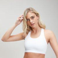 Myprotein Power Cross Back Sports Bra - White - L