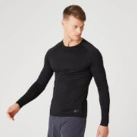 Image of Myprotein Elite Seamless Long-Sleeve T-Shirt – Black - XXL