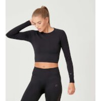 MP Shape Seamless Crop Top - Black - XL