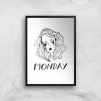 Rock On Ruby Monday. Art Print - A3 - White Frame