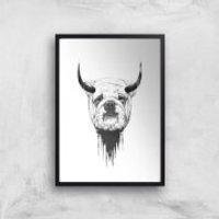 Balazs Solti English Bulldog Art Print - A4 - Black Frame