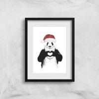 Balazs Solti Santa Bear Art Print - A2 - Wood Frame