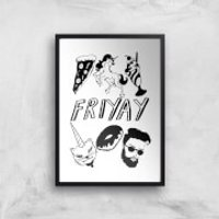 Rock On Ruby Friyay Art Print - A3 - No Hanger