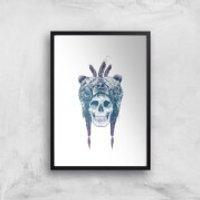 Balazs Solti Bear Head Art Print - A2 - Black Frame