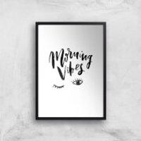 PlanetA444 Morning Vibes Art Print - A2 - Black Frame