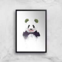 Balazs Solti Joker Panda Art Print - A3 - Black Frame