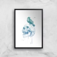 Balazs Solti Skull and Crow Art Print - A2 - No Hanger