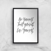 PlanetA444 Be Yourself Art Print - A2 - Wood Frame