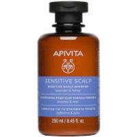Champú para cuero cabelludo sensible para el cuidado holístico del cabello de APIVITA - lavanda y miel 250 ml