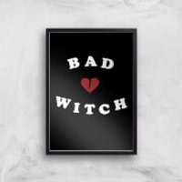 Bad Witch Art Print - A4 - White Frame