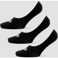 MP Women's Essentials Invisible Socks - Black (3 Pack) - UK 7-9