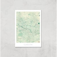 City Art Coloured Glasgow Map Art Print - A4 - Print Only