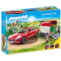 Playmobil Porsche Macan GTS with Horse Trailer and Retractable Winch (9376) - Horse Gifts