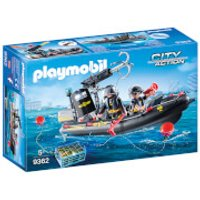Playmobil City Action SWAT Boat with Hook Cannon (9362) - Boat Gifts