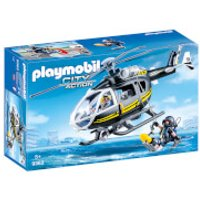 Playmobil City Action SWAT Helicopter with Working Winch (9363) - Working Gifts