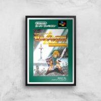 Nintendo Retro Zelda Cover Art Print - A3 - Wood Frame