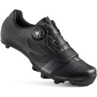 Lake MX218 Carbon Wide Fit MTB Shoes - Black/Grey - EU 42.5