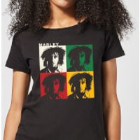 Bob Marley Faces Women's T-Shirt - Black - XXL - Black - Bob Marley Gifts