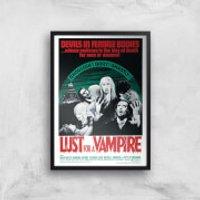 Hammer Horror Devils In Female Bodies - Lust For A Vampire Art Print - A4 - Wood Frame