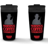 Stranger Things (Contemplation) Metal Travel Mug - Stranger Things Gifts