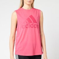adidas Women's MH Bos Tank Top - Real Pink - S - Pink