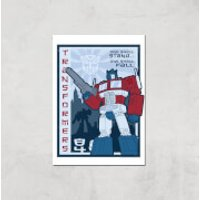 Transformers One Shall Stand Poster Art Print - A3 - Print Only - Transformers Gifts