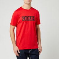 HUGO Men's Dicagolino Reverse Logo T-Shirt - Red - M - Red