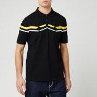 HUGO Men's Dapporo Chevron Chest Logo Polo Shirt - Black/Yellow - XL - Black