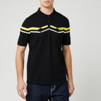 HUGO Men's Dapporo Chevron Chest Logo Polo Shirt - Black/Yellow - L - Black