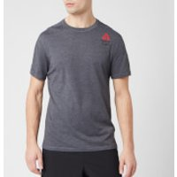 Reebok Mens Crossfit Ac+Cotton Short Sleeve T-Shirt - Grey - XL - Grey
