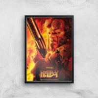 Hellboy Give Evil Hell Art Print - A4 - White Frame