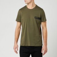 BOSS Mens Logo Cotton T-Shirt - Khaki - L