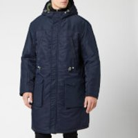 Armani Exchange Mens Trench Coat - Navy - S - Blue